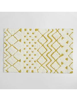Cress Green And Ivory Geometric Tribal Tufted Bath Mat by World Market