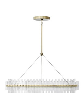 "Phoebe 52"" Linear Led Crystal Chandelier, Antique Brass by Williams   Sonoma"