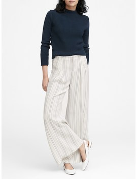 Japan Exclusive Pleated Wide Leg Pant by Banana Repbulic
