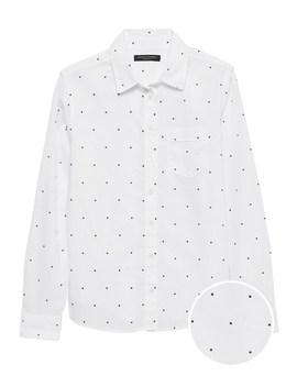 Quinn Straight Fit Cotton Linen Shirt by Banana Repbulic