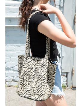 Leopard Print Bucket Tote Bag by Brandy Melville