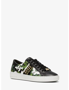 Keaton Butterfly Camo Leather Sneaker by Michael Michael Kors