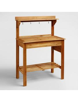 Natural Wood Outdoor Potting Bench by World Market