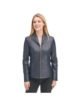 Faux Leather Wing Collar Jacket by Wilsons Leather