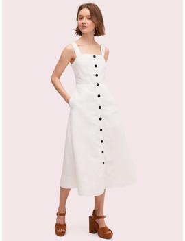 Button Front Midi Dress by Kate Spade