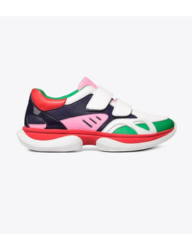 Bubble Double Strap Sneakers by Tory Burch