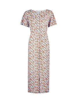 Petite Multi Colour Ditsy Print Crinkle Jumpsuit by Dorothy Perkins
