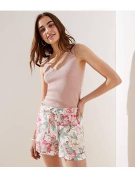 Floral Drawstring Shorts by Loft