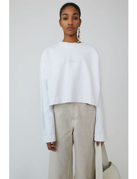 Cropped Sweatshirt Optic White by Acne Studios