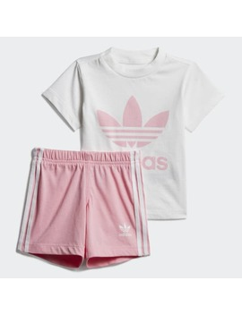 Trefoil Shorts Tee Set by Adidas