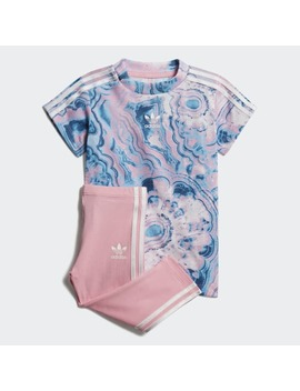 Marble Tee Dress Set by Adidas