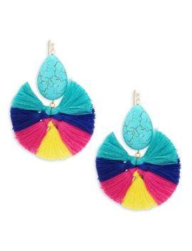 Multicolored Tassel Earrings by Panacea