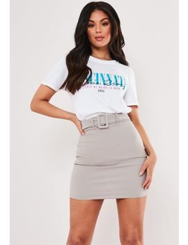 gray-belted-mini-skirt by missguided