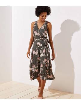 Bouquet Wrap Midi Dress by Loft