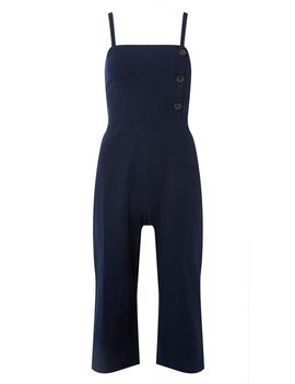 Navy Jumpsuit With Linen by Dorothy Perkins