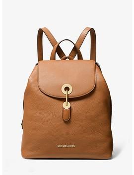 raven-medium-pebbled-leather-backpack by michael-michael-kors