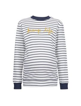 **Maternity Navy Rope Logo Sweat Top by Dorothy Perkins