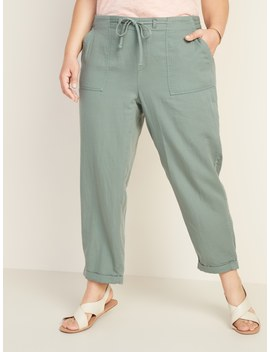 Mid Rise Plus Size Pull On Soft Cropped Utility Pants by Old Navy