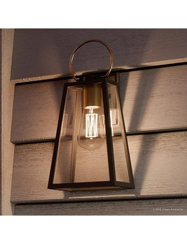 "Luxury Vintage Outdoor Wall Light, 15.125""H X 6.5""W, With Farmhouse Style Elements, Olde Bronze Finish By Urban Ambiance by Urban Ambiance"