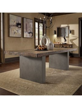 Blake Reclaimed Wood And Concrete Dining Table By I Nspire Q Artisan by I Nspire Q
