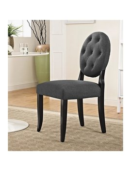 Horizon Round Grey Upholstered Dining Chair by Generic