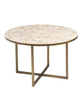 Round Marble Top Aveiro Outdoor Dining Table by World Market