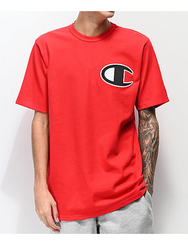 Champion Heritage Big C Red T Shirt by Champion