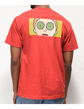 Primitive X Rick And Morty Hypno Morty Red T Shirt by Primitive