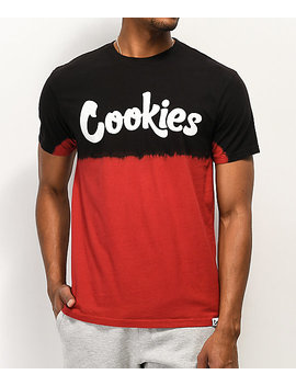 Cookies Red Tide Black &Amp; Red Tie Dye T Shirt by Cookies