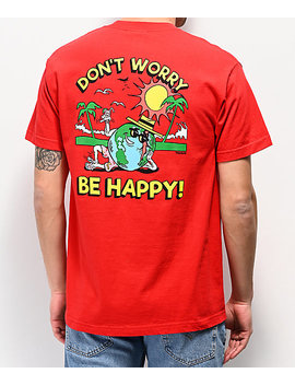 Teenage Don't Worry Red T Shirt by Teenage