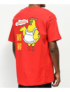 A Lab Chicken Flavaz Red T Shirt by A Lab