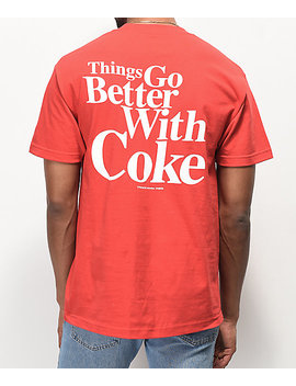 Diamond Supply Co. X Coca Cola Og Sign Red T Shirt by Diamond Supply