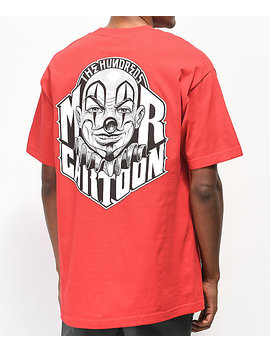The Hundreds X Mr. Cartoon Clown Red Pocket T Shirt by The Hundreds