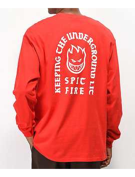 Spitfire Steady Rockin Red Long Sleeve T Shirt by Spitfire