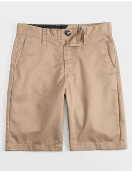 Volcom Frickin Chino Khaki Boys Shorts by Volcom