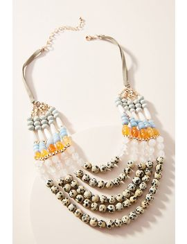 Santa Cruz Beaded Bib Necklace by Anthropologie