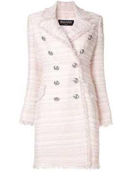 Tweed Double Breasted Coat by Balmain