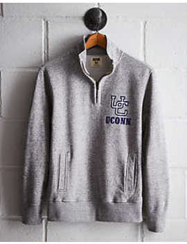 Tailgate Men's Uconn Half Zip Fleece Popover by American Eagle Outfitters