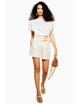 belt-stripe-shorts by topshop