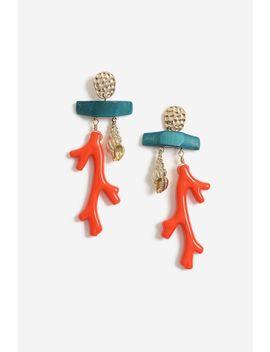 Coral Drop Earrings by Topshop