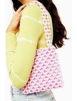 Saga Pink Beaded Tote Bag by Topshop