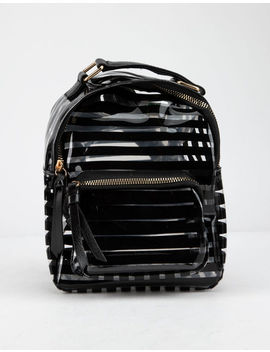 Clear Black Stripe Mini Backpack by Tilly's