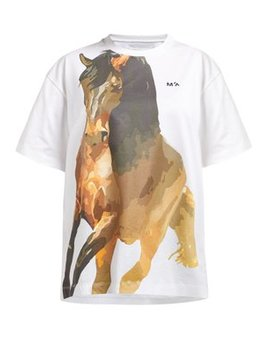 Horse Print Jersey T Shirt by Marques'almeida