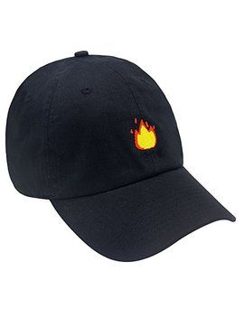 Hatter Usa Fire Emoji Dad Hats Caps Embroidered Fashion Style Vintage Lit Multi Color by Hatter Usa