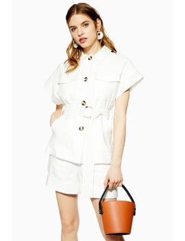 Ivory Utility Shorts Suit by Topshop