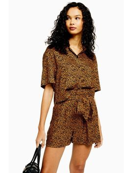 cairo-leopard-print-shirt-and-shorts-co-ord by topshop