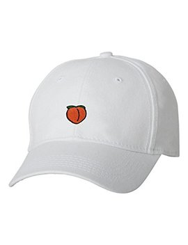 Go All Out Adult Peach Embroidered Dad Hat Structured Cap by Go All+Out