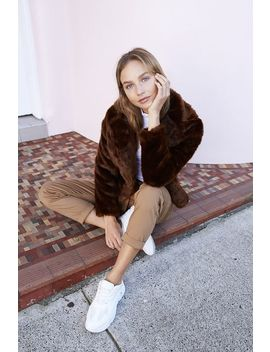 Hunter Faux Fur Coat by Cotton On