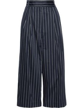 Pinstriped Cotton Poplin Culottes by Tibi