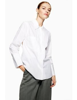 **Stitch Poplin Shirt By Boutique by Topshop